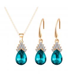 Deniz Mavi Avusturya Crystal İmitasyon Ucuz Takı Setleri