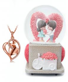 Kalp Kolye ve Love Müzik Kutusu 14 Şubat Hediyeleri