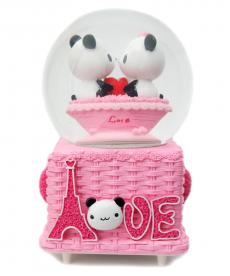 Love Panda Sevgili Pembe Büyük Boy Hediyelik Müzik Kutusu