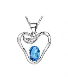 Mavi Taş Elma Kolye 925 Gümüş Kaplama Moda 2019 Takı Modelleri