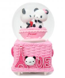 Panda Sevgili Aşk Pembe Büyük Boy Müzik Kutusu