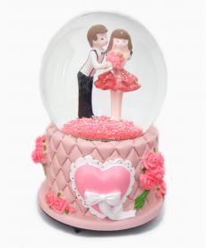 Pembe Kalpli Romantik Müzük Kutusu Hediyelik Eşya