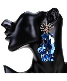 Renkli Taşlar Işıltılı Küpe Modası 2019 Zarif Şık Büyük Küpe Modelleri