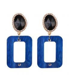 Yeni Model Dikdörtgen Mavi Akrilik Küpe 2019 Moda Küpe Modelleri