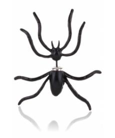 Yeni Sezon Moda Takı Punk Tarz Siyah Örümcek Küpe