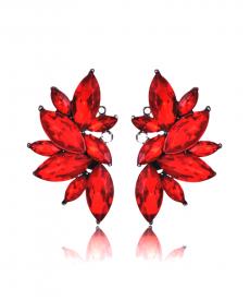 Avrupa Moda 2019 Küpe Abiye Kırmızı Küpe Modelleri