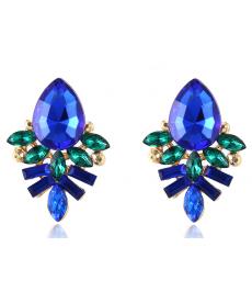 Yeni Sezon Mavi Küpe Kristal Abiye Takı Modelleri
