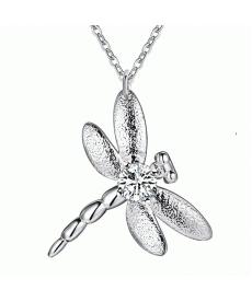 Dragonfly Kolye Yeni Sezon Gümüş Kaplama Yusufçuk Kolye