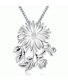 Gümüş Kaplama Çiçek Kolye Yeni sezon Takı Modelleri