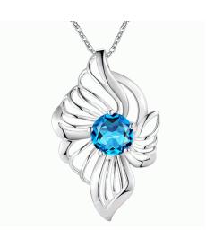 Mavi Taş Kolye Gümüş Kaplama Yeni Tasarım Kolye Modelleri 2019 Sevgiliye Hediye