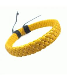 Yeni Sezon Erkekler ve Bayanlar için Uniseks Örgülü Sarı Bileklik