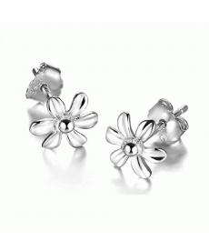 Çiçek Küpe Yüksek Kaliteli 925 Ayar Gümüş Kaplama El Yapımı Çiçek Küpe