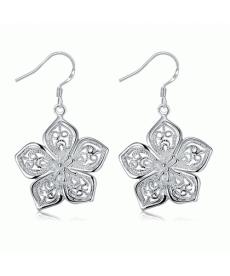 Yaz Stili Çiçek Şekilli Küpe Gümüş Kaplama 2019 Küpe Modelleri