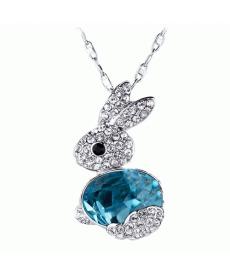 Yeni Sezon Kadın Moda Küçük Mavi Tavşan Kolye Takı Aksesuar
