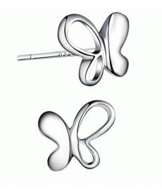 Yeni Sezon Retro Moda Gümüş Kaplama Küçük Kelebek Küpe Modelleri