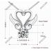 Yeni Tasarım Kolyeler İki Kuğu Kolye Gümüş Kaplama Moda Bohemia Takı Kolye