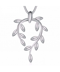 Gümüş Kaplama Takı 2019 Trend Kolye Bitki Ağacı Kolye Sevgiliye Hediye