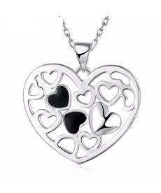 Marka Tasarım Gerdanlık Kolye Gümüş Kaplama Kalpli Kolye Online Takı Alışveriş