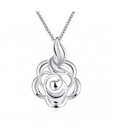 Yeni Tasarım Zarif Choker Kolye 925 Gümüş Kaplama Takı Şirin Çiçek Kolye