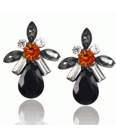 En Yeni Takı Modelleri Kristal Siyah Taşlı Küpe Romantik Hediyeler