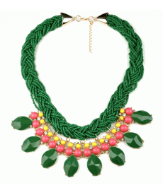 Moda Bohem Kolye Yüksek Kalite Yeşil Renk Boncuk Choker Kolye Güzel Hediyeler