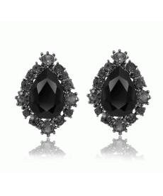 Siyah küpe Modelleri Kristal Taşlı Zarif Küpe Takı Online Satış