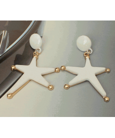 Yeni Model Beyaz Büyük Küpe Denizyıldızı Yıldızı Küpe Çeşitleri