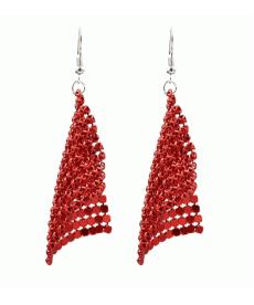 Yeni Model Püskül Kırmızı Küpe Bohemia Tarzı 2019 Moda Uzun Küpe