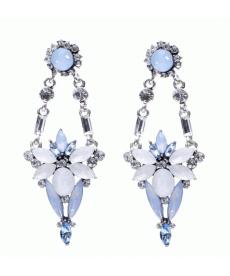 Yüksek Kalite Uzun Küpe Yeni Moda Kristal Takı Mavi Küpe Takı Çeşitleri