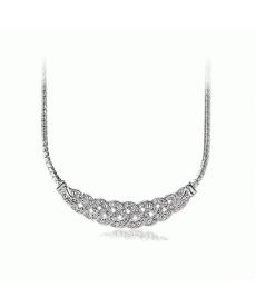 Trendy Moda Takı Kristal Taşlı Gümüş Rengi Kolye Modelleri