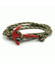 Kırmızı Çapa Bileklikler Yeşil Halat Erkek Kadın Unisex Bileklik Aksesuar