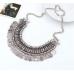 Osmanlı Kolye Modelleri Moda Takı Gümüş Rengi Para Kolye
