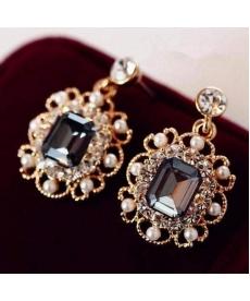 Yeni Model Altın Kaplama Kristal Küpe Moda Takı Düğün Gelinlik Küpe Modelleri
