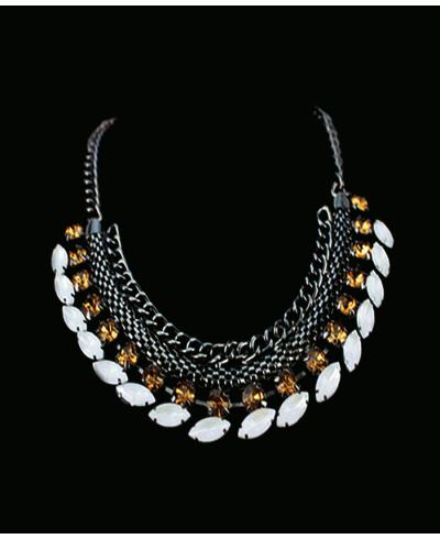 Kristal Taşlı Kolye 2019 Yeni Moda Zincirli Gerdanlık Metal Kolyeler