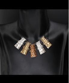 Üç Renk Metal Zincir Kolye