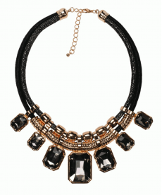 Trendy Kolye Halat Yaka 18K Altın Kaplama Kristal Taş Moda Chokers Kolye Takı