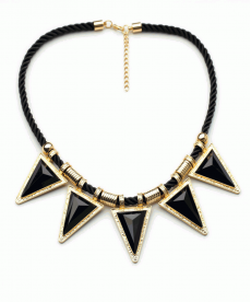 Yeni Sezon Moda Takı Siyah Üçgen Geometrik Kolye Chokers Takı